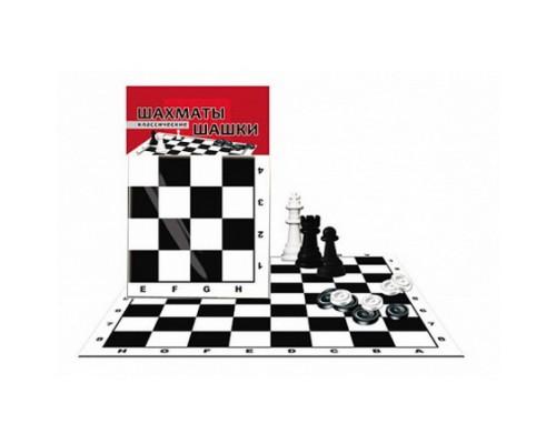 Шахматы и шашки классические + поле (ИН-0159)