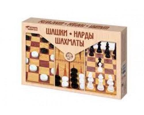 Набор шашки,шахматы,нарды (бол.)3872