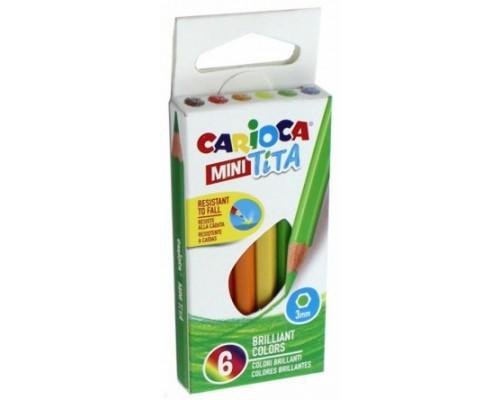 Карандаши 12 цветов Carioca MINI TITA корпус пластик