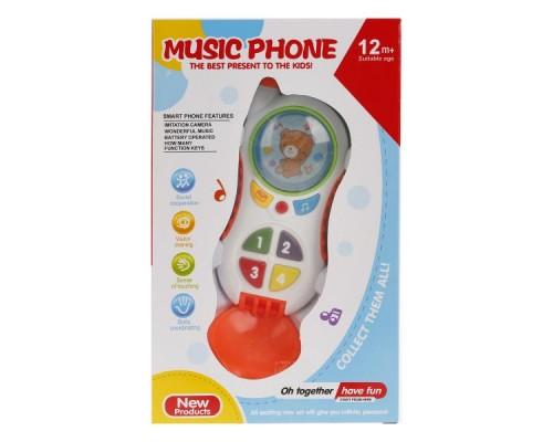 Сотовый телефон на бат. свет+звук, в ассорт. CY1013-4 в кор. 13*21*5,5см